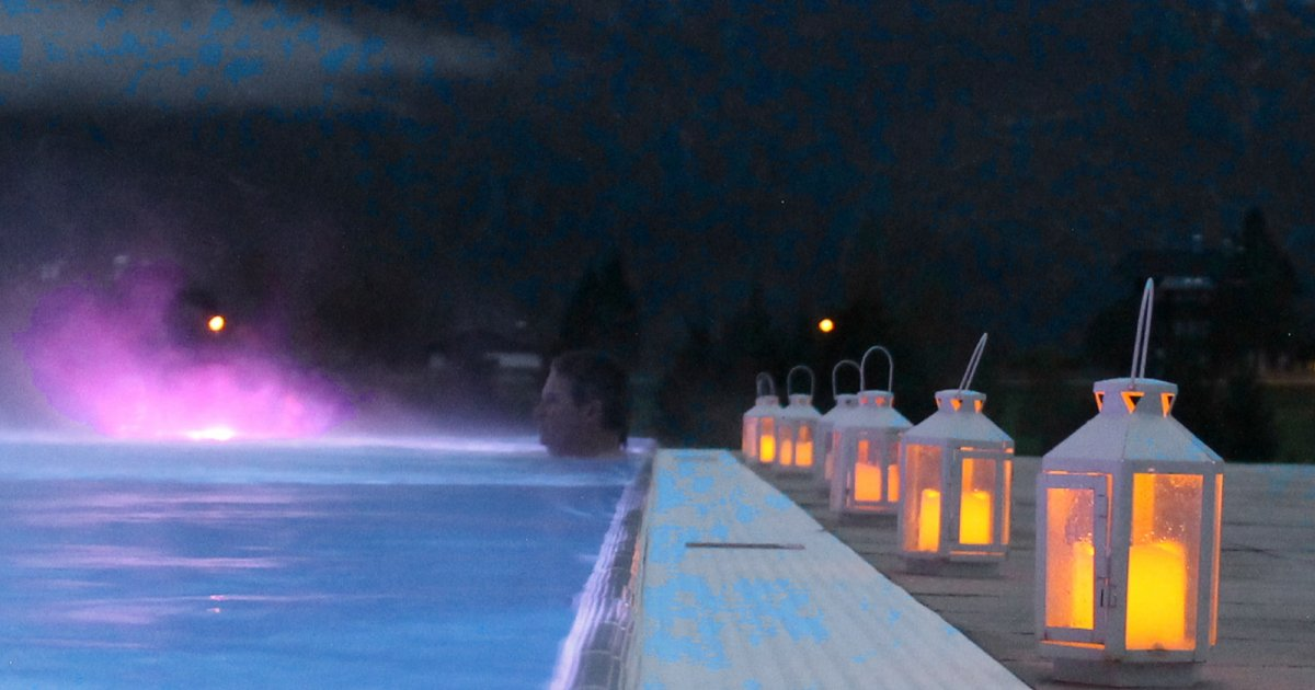 Candle Light Swimming Bad Aussee Holiday In The Salzkammergut